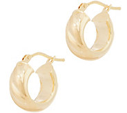 Italian Gold 1/2 Satin Twist Hoop Earrings, 14K Gold - J356479