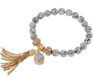 Samantha Wills Faceted Gemstone Stretch Bracele with Tassel - J356579