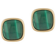 Bronzo Italia Cabochon Gemstone Bronze Stud Earrings - J357879