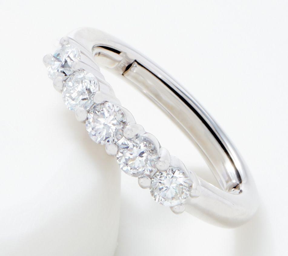 Affinity 14k Flexible 5 Stone Diamond Ring 1 00 Cttw Qvc Com