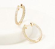 Affinity 14K Gold Inside Out Diamond Hoop Earrings, 1/2cttw - J361679