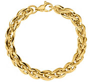 Italian Gold 14K Twisted Oval Link Bracelet, 10.9g - J384879