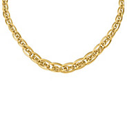 Italian Gold Oval & Textured Link Necklace, 14KGold, 11.5g - J385479