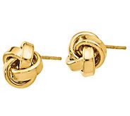 14K Gold Love Knot Ribbon Earrings - J385579