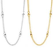 Judith Ripka 36 Verona Multi-strand Round Rope Link Necklace - J56379