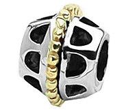 Prerogatives Sterling and 14K Gold Bali Bead - J109280