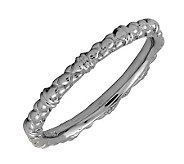Simply Stacks Sterling Black Rhodium-Plated 2.25mm Cable Ring - J298880