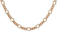Bronze 36 Fancy Curb Link Necklace by Bronzo Italia - J311780