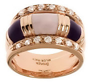 Bronzo Italia Enamel & Crystal Ring - J313080