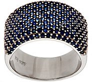 Bold Pave Colors of Sapphire Sterling Ring 2.00 cttw - J349780