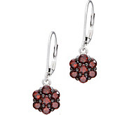 Colored Diamond Floral Drop Earrings, Sterl 1.00 cttw by Affinity - J349980