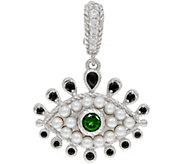 Judith Ripka Sterling Silver Freshwater Pearl Evil Eye Enhancer - J350280