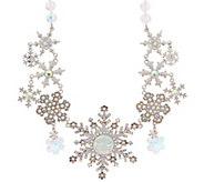 Kirks Folly Seaview Moon Snowflake Necklace - J352480