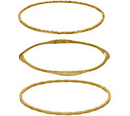 BROOKE SHIELDS Timeless Set of Three Textured Bangles - J354680