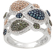 Multi-Colored Diamond Ring, 3/4 cttw, Sterling, by Affinity - J354780