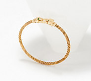 Italian Gold Average Panther Head Bracelet 14K Gold, 8.0g - J359780