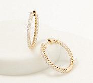Affinity 14K Gold Inside Out Diamond Hoop Earrings, 1.00cttw - J361680