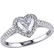 Heart Shaped Diamond Ring, 14K, 9/10 cttw, by Affinity - J376580