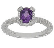 Judith Ripka Sterling Oval Gemstone Ring - J382280