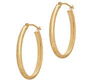 EternaGold Bright-Cut Oval Hoop Earrings, 14K Gold - J383280