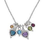Judith Ripka Sterling 18 Multi-Gemstone & Diamonique Necklace - J383580