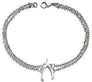 Steel by Design 7-1/2 Wishbone Double Link Bracelet - J383780