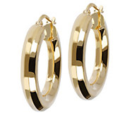 Veronese 18K Clad 1 Polished Hoop Earrings - J390880