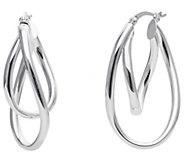 Sterling 1-1/4 Double Twisted Hoop Earrings - J392380