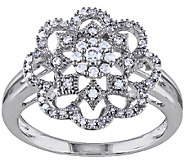 Diamond Floral Design Ring, 1/3cttw, 14K, by Affinity - J338081