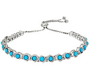 Sleeping Beauty Turquoise Station Adjustable Bracelet - J347781