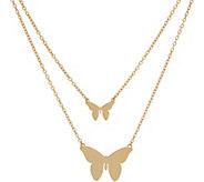 JZ by Jennifer Zeuner Sterling or 18K Plated Butterfly Necklace - J350081