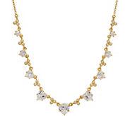 Judith Ripka 14K Clad 7.20 cttw Diamonique Heart Necklace - J352581