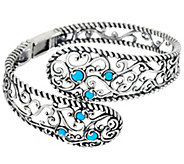 As Is Carolyn Pollack Sleeping Beauty Turquoise Silver Cuff - J354181