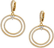 Judith Ripka 14K Clad 2.50 cttw Diamonique Earrings - J354881