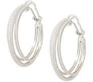 Judith Ripka Sterling Diamonique Triple Hoop Earrings - J355081
