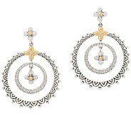 Barbara Bixby Sterling Silver & 18K Gold Front Facing Hoop Earrings - J357181