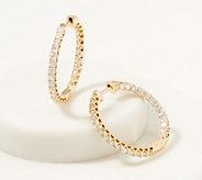 Affinity 14K Gold Inside Out Diamond Hoop Earrings, 2.00cttw - J361681