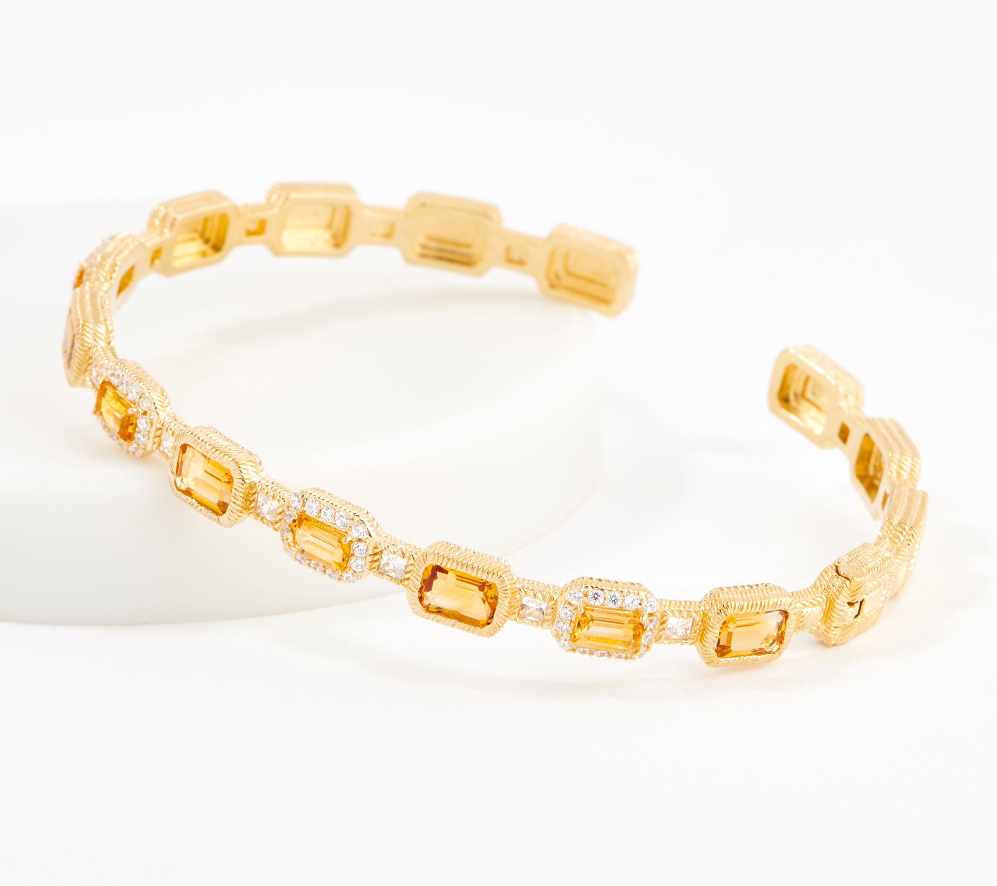 $112 off a 14K gold clad gemstone cuff
