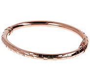 Bronzo Italia Diamond-Cut Oval Bangle - J390481