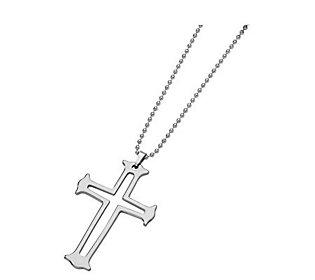 Forza Tungsten Cross Necklace