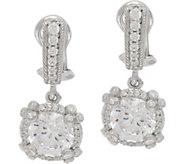 Judith Ripka Sterling Silver 4.70 cttw Diamonique Drop Earrings - J350482