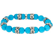 Or Paz Sterling Silver Gemstone Bead Stretch Bracelet - J356582