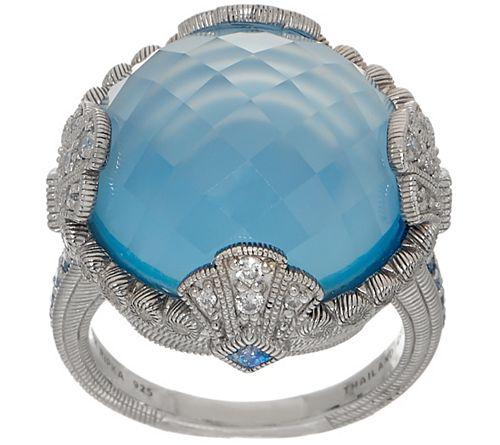 Judith Ripka Sterling Silver Gemstone Doublet Cocktail Ring