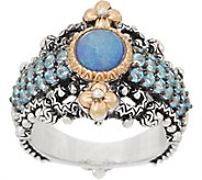 Barbara Bixby Sterling Silver 18K Gold Gemstone Ring - J358682