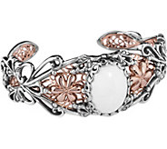 Carolyn Pollack Blushing Joy Mixed Metal Cuff Bracelet - J377482