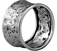 Or Paz Sterling Silver Mens Hammered Band Ring - J377782