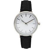 Olivia Pratt Womens Denim Leather Watch - J380482