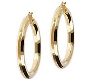 Veronese 18K Clad 1-1/2 Polished Hoop Earrings - J390882