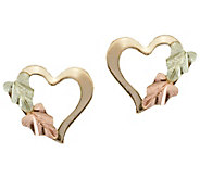 Black Hills Heart Post Earring, 10K/12K Gold - J392482