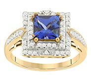 1/4 cttw Diamond & 1.00 cttw Tanzanite Ring, 14K - J394182